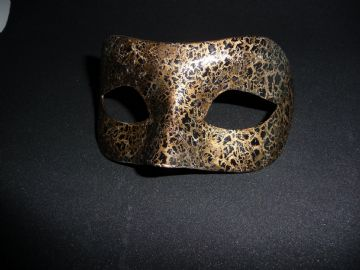 Genuine Venetian Designer Black Gold Mask